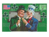 St. Patrick's Day with Uncle Sam Posters