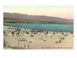 Beach Scene, Santa Barbara, California Prints