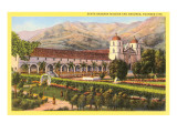 Mission and Grounds, Santa Barbara, California Photo