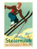 Steiermark Ski Poster Kunstdrucke