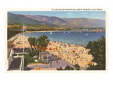 Beach and Mountains, Santa Barbara, California Prints