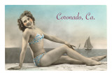 Bathing Beauty, Coronado, San Diego, California Posters