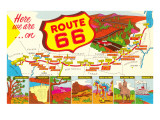 Here We are on Route 66 Prints