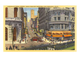 Drahtseil-Straßenbahnen, Powell Street, San Francisco, Kalifornien Kunstdruck