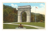 World War Memorial Arch, Huntington, West Virginia Prints