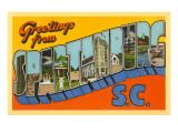 Greetings from Spartanburg, South Carolina Prints