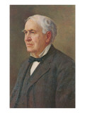 Portrait of Thomas Edison Posters
