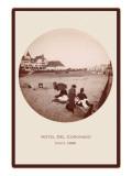 Families on Beach, Hotel del Coronado, San Diego, California Poster