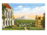 Mt. Rainier from University, Seattle, Washington Posters