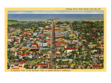 View over Santa Barbara, California Posters