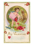 My Valentine, Cupid Poem Posters