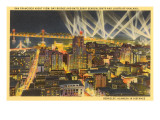 Night, Downtown San Francisco, California Posters