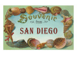 Souvenir from San Diego, California Prints