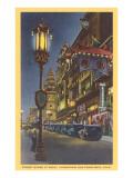 Chinatown at Night, San Francisco, California Art