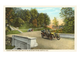 Motor Cars in Frink Park, Seattle, Washington Poster