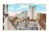 Liberty and Fifth, Pittsburgh, Pennsylvania Prints