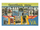 Greetings from Newport News, Virginia Posters