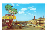 The Palms Motor Hotel, Vintage Motel Prints