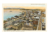 Overview of Seattle, Washington Posters
