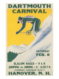 Poster for Dartmouth Skiing Carniival Posters
