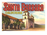Mission, Santa Barbara, Californie Poster