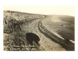 Curved Beach, Cardiff by the Sea, California Premium Giclee Print