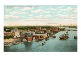 Overview of Harbor, Green Bay, Wisconsin Prints