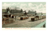 Duquesne Furnaces, Carnegie Steel, Pittsburgh, Pennsylvania Prints