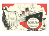 Queen Mary versus Niagara Falls Print