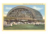 Construction of Tabernacle Roof, Salt Lake City, Utah Print
