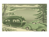 Futuristic Thirties Travel Trailer Poster