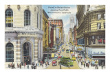 Cable Car Turntable, Powell at Market Street, San Francisco, California Posters