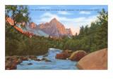 Watchman, Zion Park, Makuntuweap River, Utah Posters