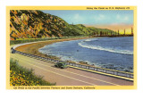 US Highway 101, Santa Barbara, California Premium Giclee Print