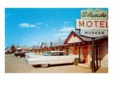 El Rancho Vintage Motel, Cadillac with Fins Posters