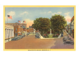 Washington Square, Newport, Rhode Island Print