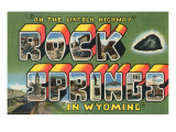 Rock Springs, in Wyoming Posters
