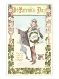 Uncle Sam Celebrating St. Patrick's Day Poster