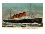 Ocean Liner RMS Mauretania Posters