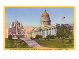 Capitol, Mormon Battalion Monument, Salt Lake City, Utah Prints