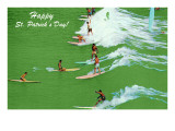 Surfing the Green Waves Posters