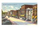Main Street, St. Albans, Vermont Poster
