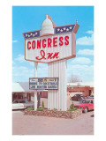 Congress Inn, Vintage Motel Prints