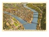 Stadtzentrum Pittsburgh, Pennsylvania Kunstdrucke