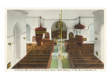 Interior, Bruton Parish Church, Williamsburg, Virginia Prints