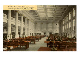 Reading Room, Historical Library, Madison, Wisconsin Print