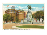 Washington Monument, Richmond, Virginia Poster