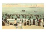 Strandszene, Narragansett Pier, Rhode Island Kunstdrucke