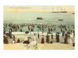 Beach Scene, Narragansett Pier, Rhode Island Prints