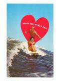 Surfing Valentine Posters